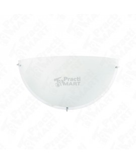 Luminario de Pared Estevez EBRO 100 W 127 V Portalámparas E26-Blanco