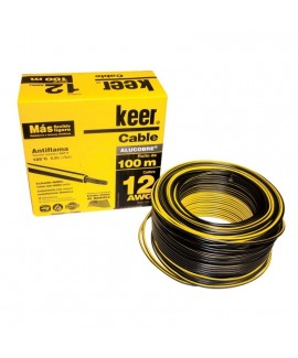 Cable THW Calibre 12 Negro 4082 Keer