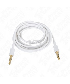 Cable Plug a Plug Steren 255-264BL Cable Ultradelgado 3.5 a 5.5 mm 1.8 m-Blanco
